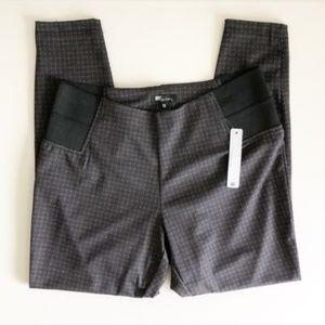 KUT Angie Gray Plaid Stretch Skinny Pants Sz 1X